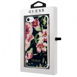 Capa iPhone 6 / 7 / 8 / SE (2020) Oficial Guess Flores Preto iPhone 7|8|SE 2020