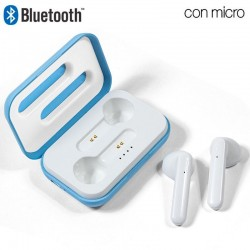 Auriculares Stereo Bluetooth Dual Pod COOL STYLE Celeste Auriculares