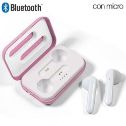Auriculares Stereo Bluetooth Dual Pod COOL STYLE Rosa Auriculares