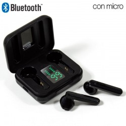 Auriculares Stereo Bluetooth Dual Pod COOL STYLE V2 Preto Auriculares