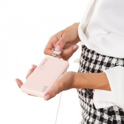 Power Bank Universal 10.000 mAh (2 x usb / 2.1A) COOL Leather Rosa Power Bank
