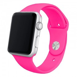 Pulseira Apple Watch Series 1 / 2 / 3 / 4 / 5 / 6 / SE (42 / 44 mm) Goma Fucsia Apple Watch