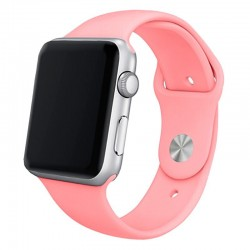 Pulseira Apple Watch Series 1 / 2 / 3 / 4 / 5 / 6 / SE (42 / 44 mm) Goma Rosa Apple Watch