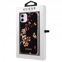 Capa para iPhone 11 Oficial Guess Flores Preto iPhone 11